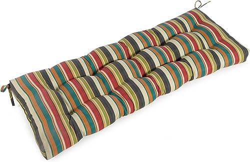 Greendale Home Fashions AZ4805-SUNSET Adobe Stripe 44-inch Outdoor Swing/Bench Cushion