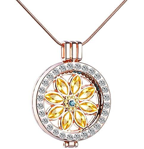 Unendlich U Sonnenblume Damen Halskette Legierung Kristall