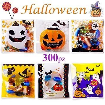 300pcs Bolsitas Caramelos Plástico Halloween Autoadhesivas ...