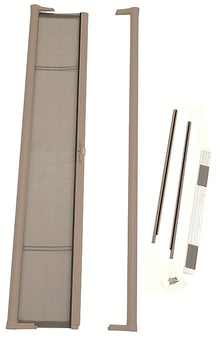 brisa retractable screen door sliding brisa retractable screen door finish sandstone amazoncom