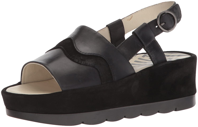 FLY London Women's BEMA851FLY Sandal B0752LK3X7 37 M EU (6-6.5 US)|Black Rug/Suede