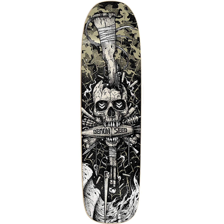 DemonシードSkateboards Join or Die Old Schoolスケートボードデッキ – 8.75