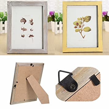 Amazon.com - HITSAN 8 inch Vintage Solid Wood Photo Picture Frame ...