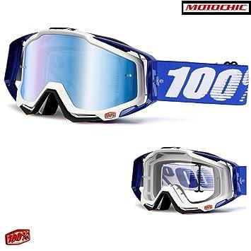 100/% Racecraft Extra MX Brille Wei/ß//Blau