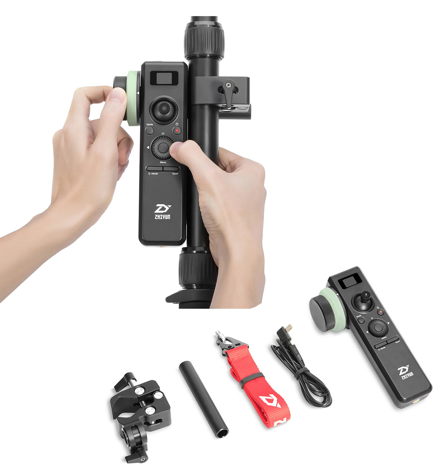 Zhiyun [Official] Crane 2 Wireless Motion Sensor Remote Control with Follow Focus 25 Hours Runtime for Crane 2 by zhi yun