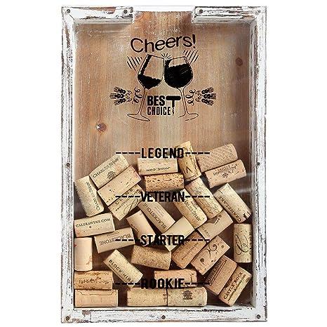 Amazon.com: Lilys Home - Soporte de corcho para vino, caja ...