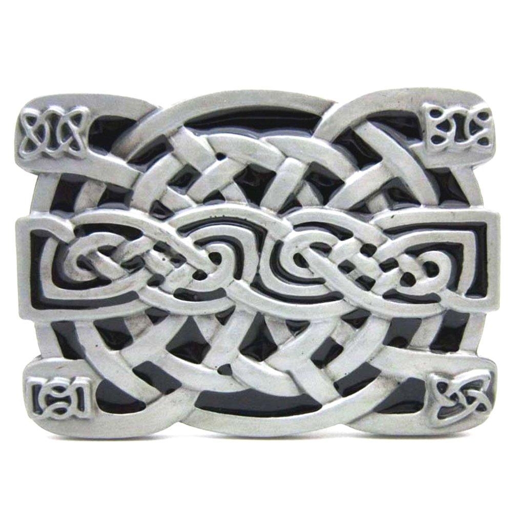 Balabalam Vintage Western Celtics Endless Knot Metal Belt Buckle for Men BKL284