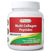 Best Naturals Multiple Collagen Peptides Protein Type I, II III, V & X Collagen...