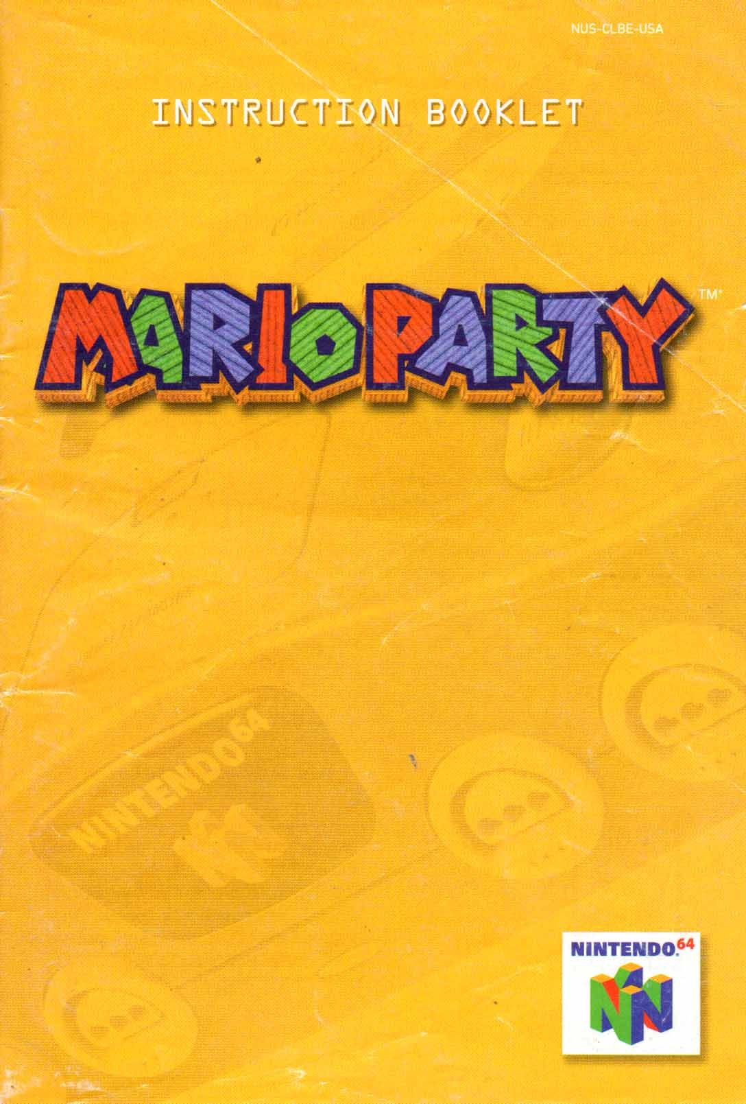 mario party n64 instruction booklet nintendo 64 manual only rh amazon com User Manual Template User Guide