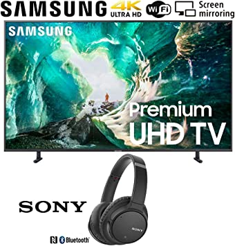 Samsung UN65RU8000 RU8000 LED Smart 4K UHD TV (2019) Paquete con Auriculares inalámbricos con cancelación de Ruido y cancelación de Ruido, Color Negro: Amazon.es: Electrónica