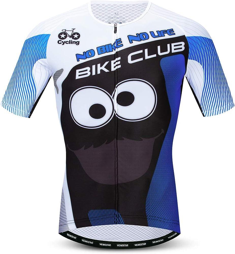 Ropa Ciclismo Hombre, Camisas de Bicicleta de Montaña 100% Poliéster Ropa de Carreras Ropa Transpirable MTB Jersey - - S pecho 92 cm: Amazon.es: Ropa y accesorios