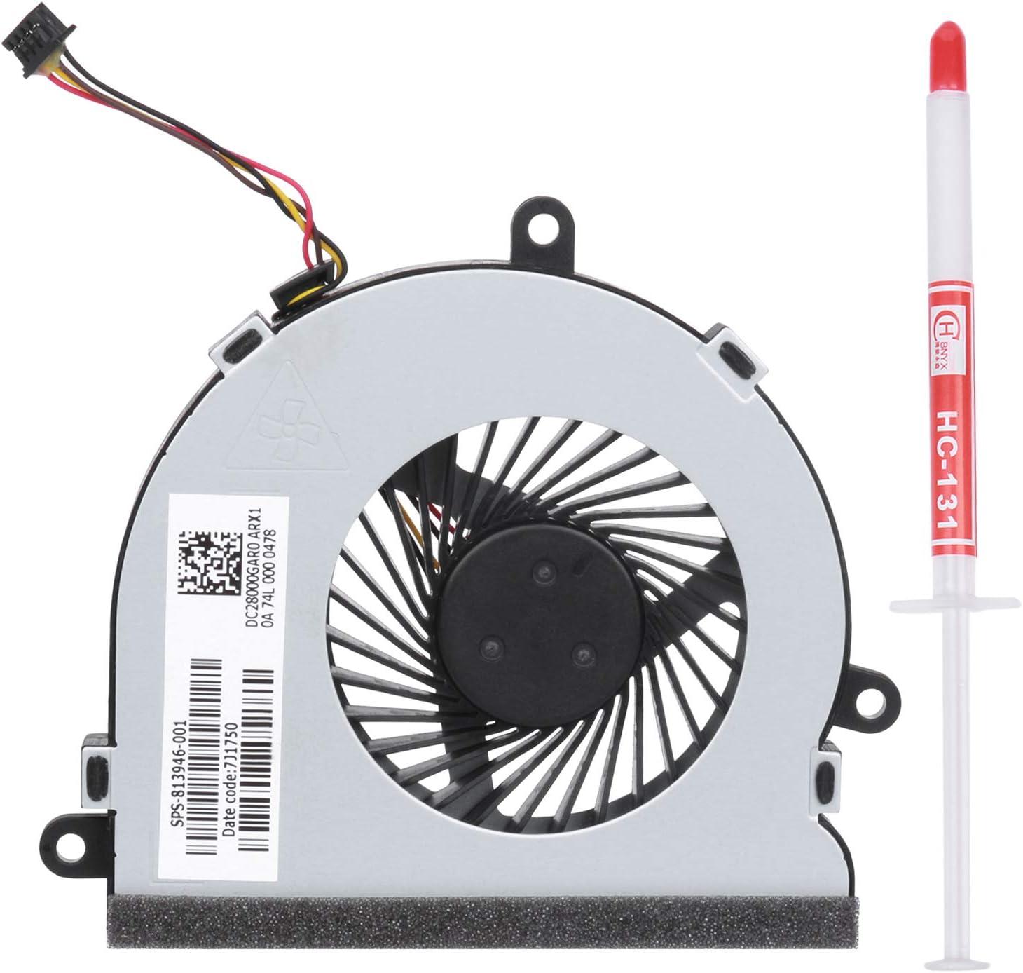 New CPU Cooling Cooler Fan for HP Pavilion 15-n280nr 15-n280us 15-n281nr 15-n283nr 15-n284ca 15-n284nr 15-n285nr 15-n286nr 15-n287cl 15-n287nr 15-n288ca 15-n288nr 15-n289nr