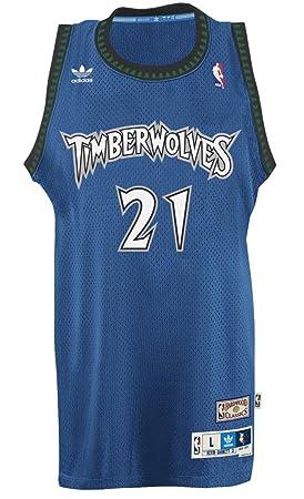 quality design f0e6e a5908 Kevin Garnett Minnesota Timberwolves Adidas NBA Throwback ...
