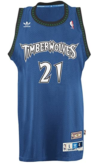 quality design 5fd97 20fb1 Kevin Garnett Minnesota Timberwolves Adidas NBA Throwback ...