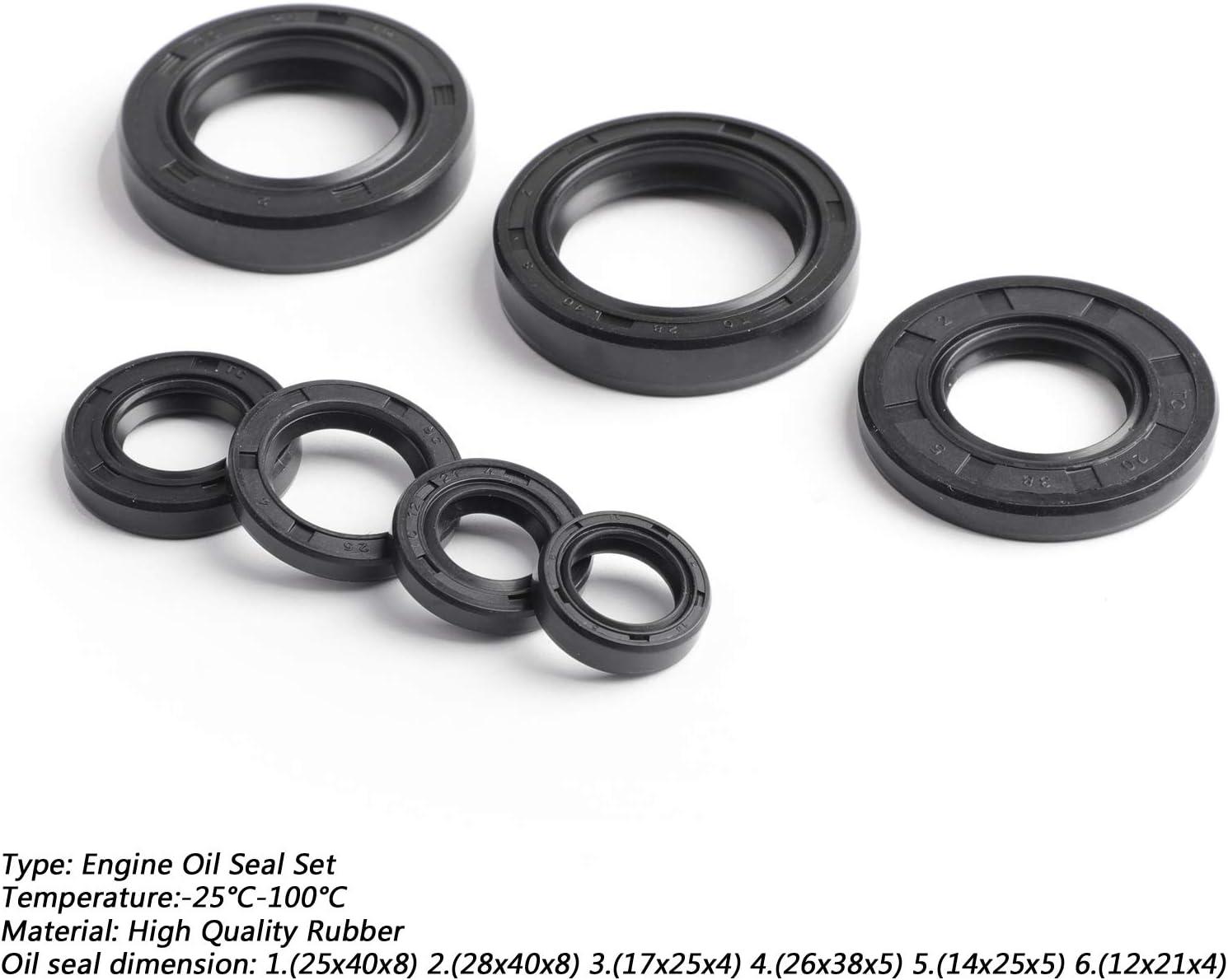 CHENDGE2 Engine Oil Seal Kits for Yama-ha DT175 MX175 74-81 DT125 YZ125 77-80 MX125 1976