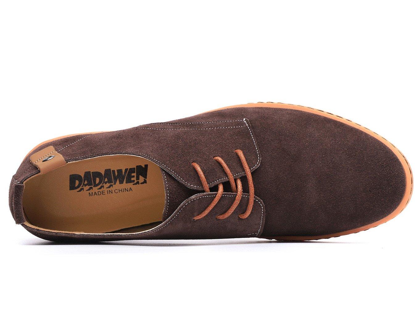 Dadawen Men's Brown Leather Oxford Shoe - 11 D(M) US by DADAWEN (Image #5)