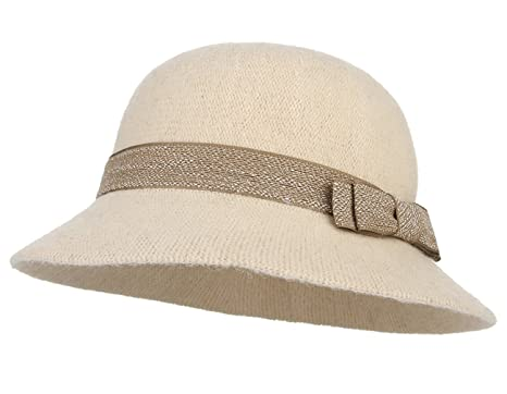 La Vogue Women s Wool Felt Cloche Hats Basin Cap Autumn Winter Ladies Derby Cloche  Hat with a4cda4ee0a5