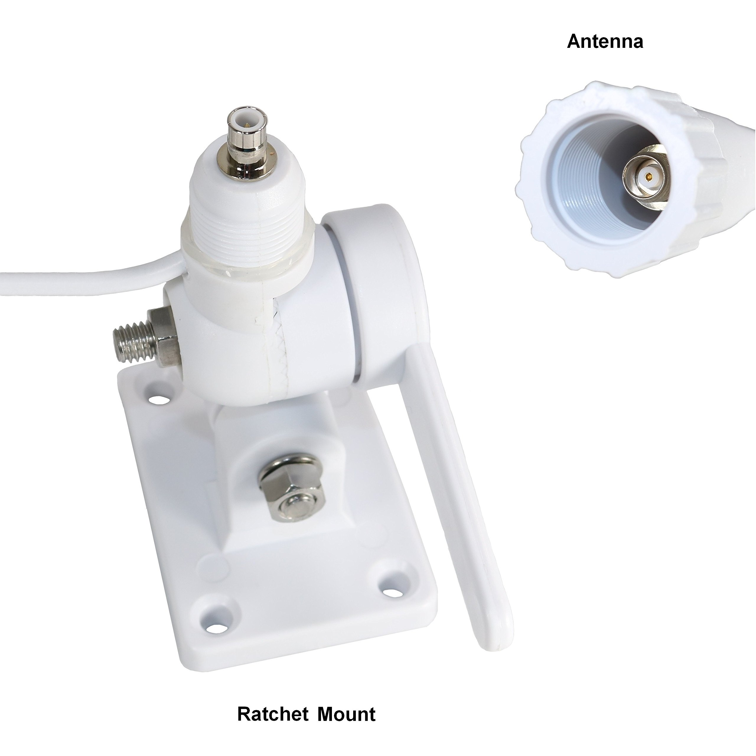 TRAM(R) 1614 46'' VHF 3 Dbd Gain Marine Antenna with Cable Built-in to Ratchet Mount, Silver by TRAM(R) (Image #4)