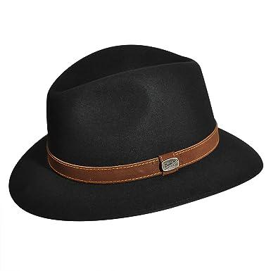 794dfa163deb3 Borsalino Men Leopardi Fedora Black 7 7 8 at Amazon Men s Clothing store