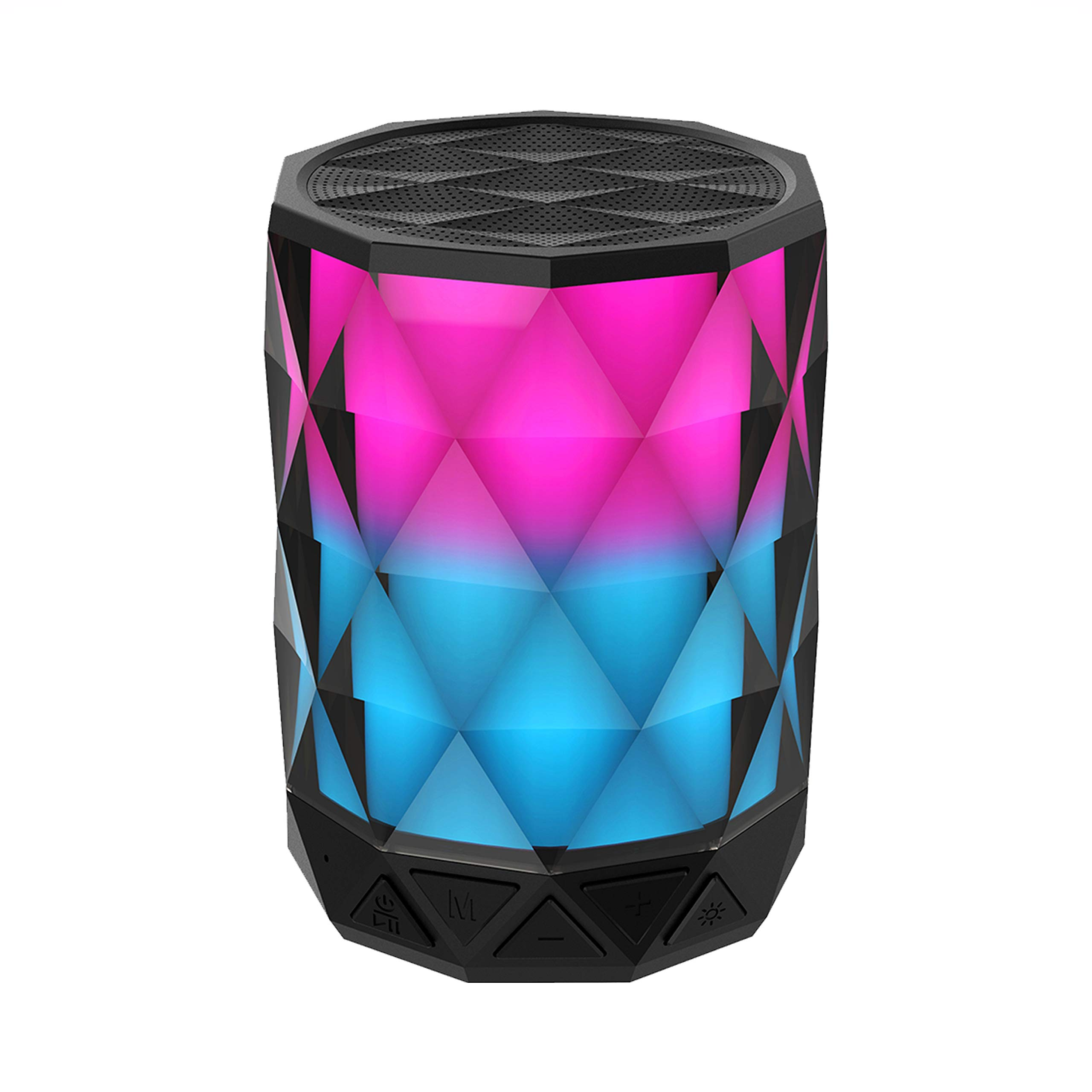 Portable Bluetooth Speakers With Lights, SHAVA Diamond...