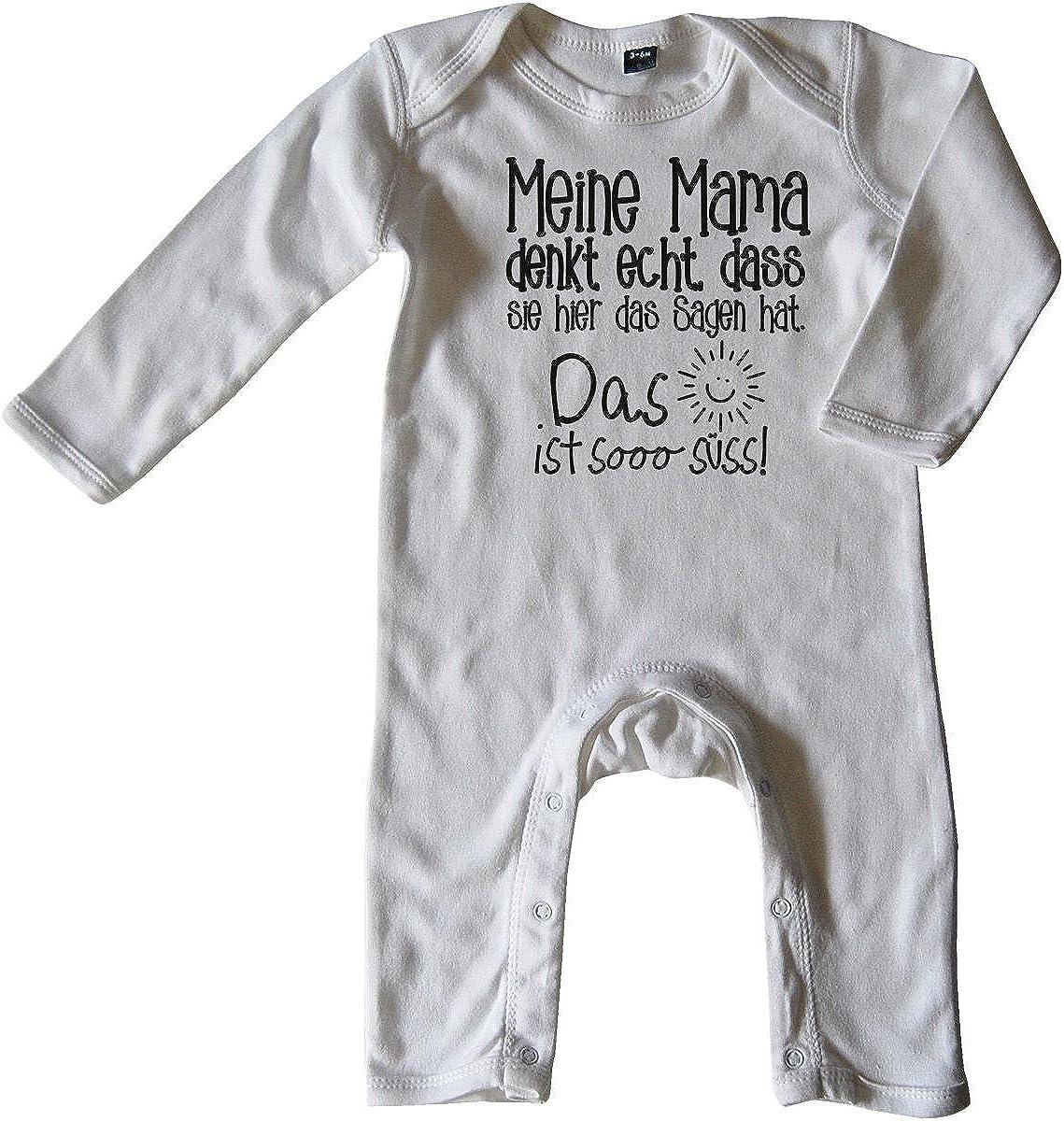 Mikalino Baby Schlafanzug Meine Mama Denkt echt DASS sie Hier das Sagen hat.