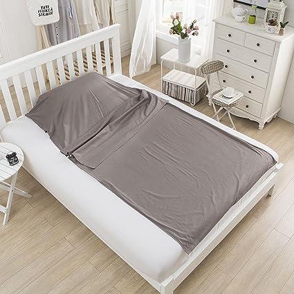 docooler al aire libre viajar Trekking saco de dormir Liner compacto ligero tejido de algodón saco