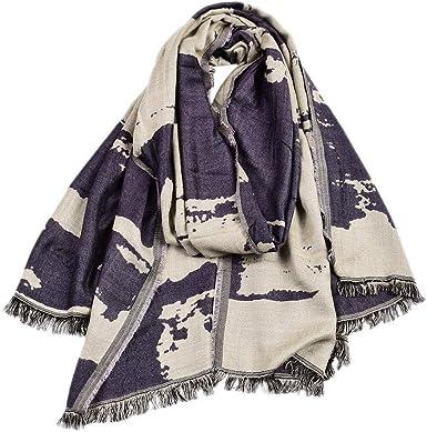 Kakoop - Bufanda de algodón para hombre, diseño de invierno, color a juego Negro Estilo 1 Talla única: Amazon.es: Ropa y accesorios
