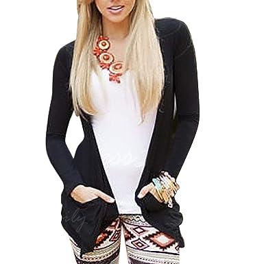 BCDshop Women Thin Jacket Back Hollow Skull Coat Outwear Fall Spring Long Sleeve Top (Black