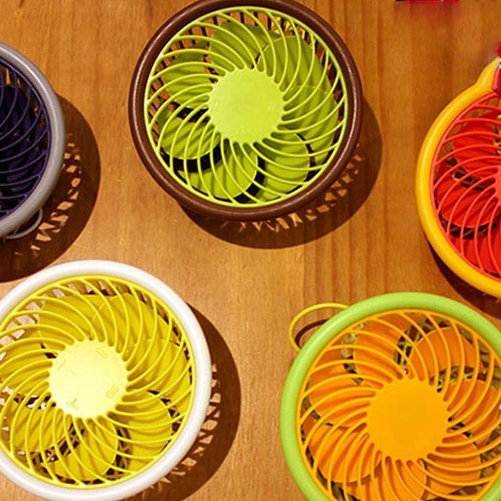 Air Cooling Fan Summer Fruit Mini Fan Girl Adjustable Wind Speed USB Electric Fan Mute Round Personal Fan Color : 01
