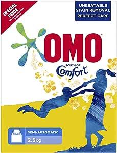 مسحوق تنظيف اومو تتش بلمسة من كومفورت، للغسالات نصف الاوتوماتيكية 2.5 كغم