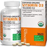 Bronson Vitamin D3 10,000 IU (1 Year Supply) for Immune Support, Healthy Muscle Function & Bone Health, High Potency Organic