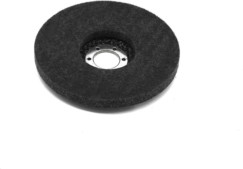 Grain 40//60//80//120 │1 x Coarse Cleaning Disc │ 2 x Polishing Disc Serrated Washers and Polishing Set 11 Pieces │ Diameter 115 mm │ 4 x Blue Standard 4 x Brown Felt//Nylon INOX