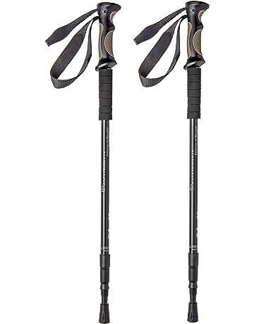 37790e6aa5f BAFX Products - 2 Pack - Adjustable Anti Shock Hiking Walking Trekking Poles  -