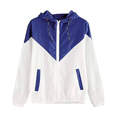 66d37848128 Image Unavailable. Image not available for. Color  Londony Women s Plus Size  Color Block Drawstring Active Outdoor Hooded Lightweight Rain Jacket ...