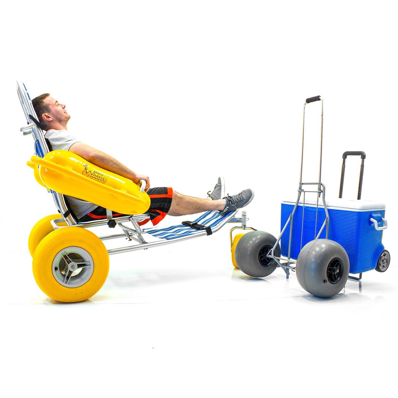Waterwheels flotante playa piscina silla de ruedas, arena, Mar, Globo de agua + Challenger playa Cart: Amazon.es: Salud y cuidado personal