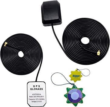 HQRP Antena externa GPS amplificada 1575.42 MHz de montaje ...