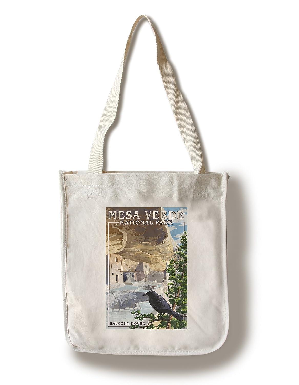 高価値セリー Mesa Canvas Verde国立公園 –、コロラド – バルコニー家 Canvas Tote Bag LANT-40896-TT Bag B01841VLUY Canvas Tote Bag, 2019春の新作:69621be3 --- efichas.com.br