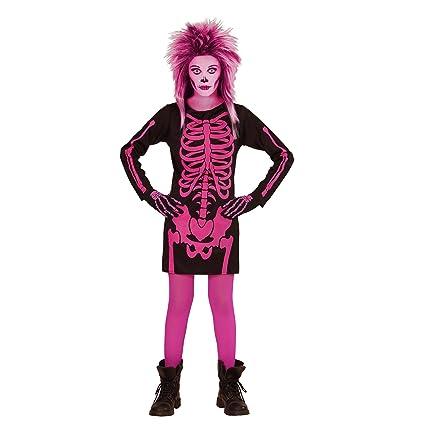WIDMANN 00377 - Traje Niño chica esqueleto, vestido, tamaño ...