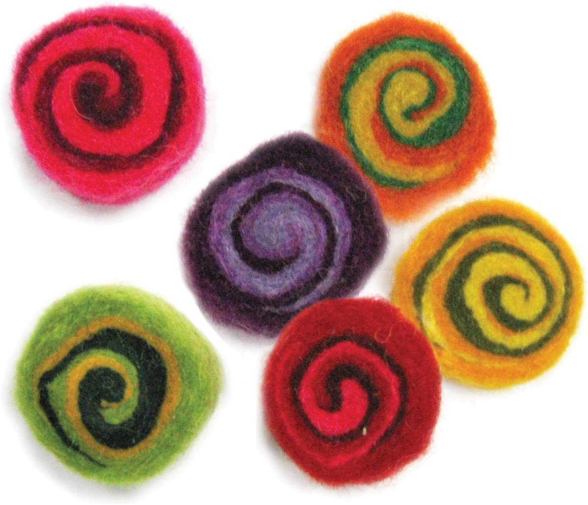 DIMENSIONS Crafts 72-74028 Wool Cup Flowers for Needle Felting Small
