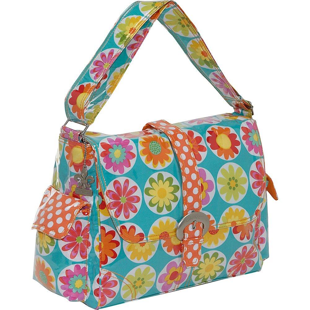 Kalencom Laminated Buckle Bag, Big Daisy