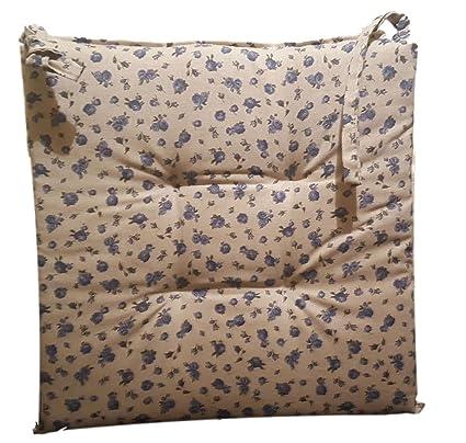 4 CUSCINI SEDIA CUCINA cuscino COUNTRY cm 40x40 azzurro prodotto ...