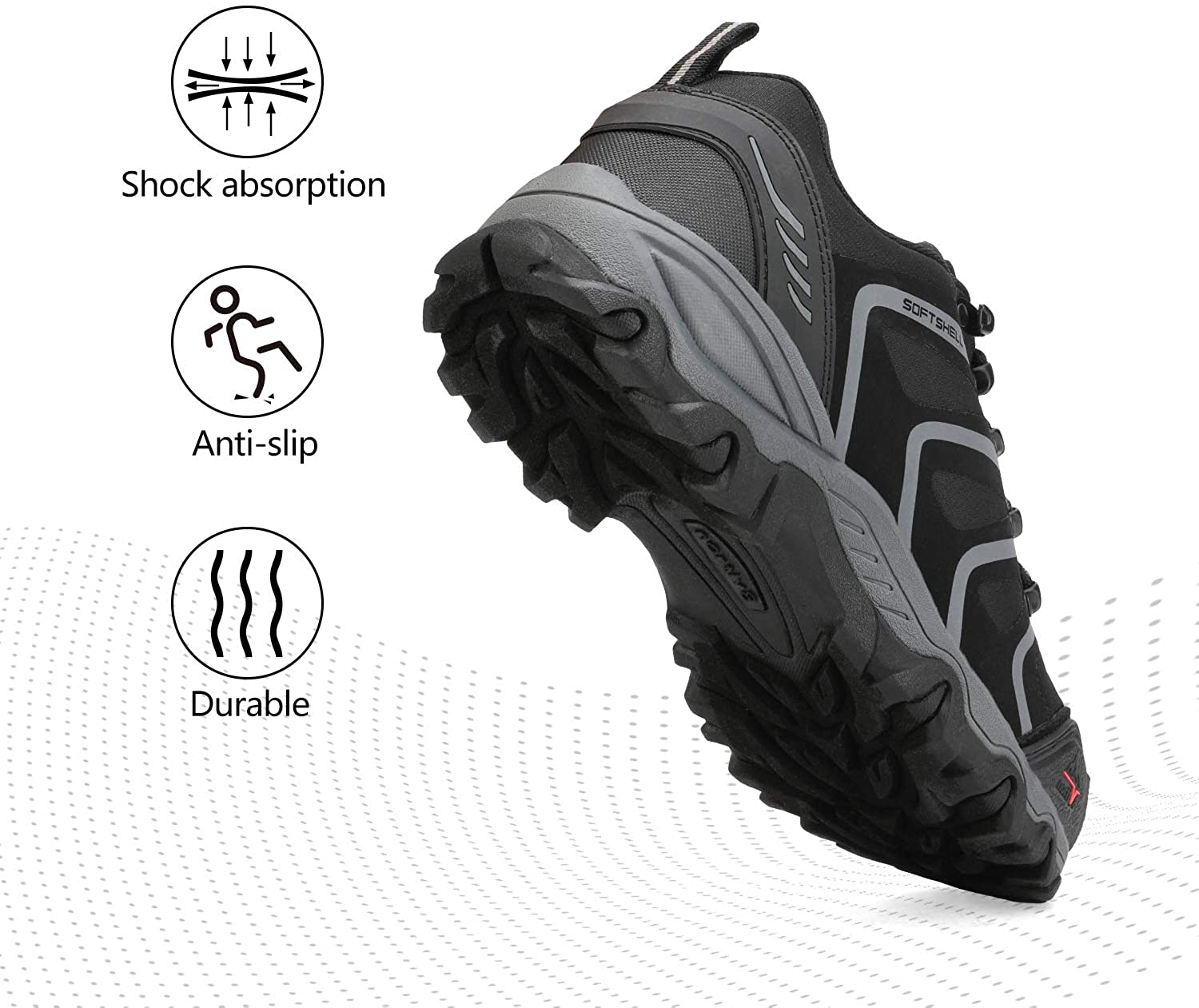 NORTIV 8 Mens Low Top Waterproof Hiking Boots Outdoor Lightweight Shoes Backpacking Trekking Trails