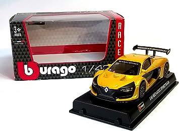 Renault megane Sport rs01 amarillo Coupe 1//43 Bburago modelo coche con o sin en...