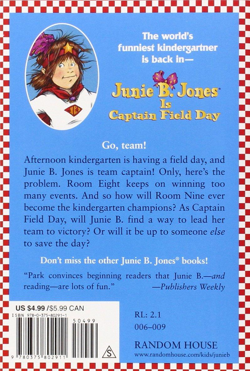 junie b jones is captain field day junie b jones no 16