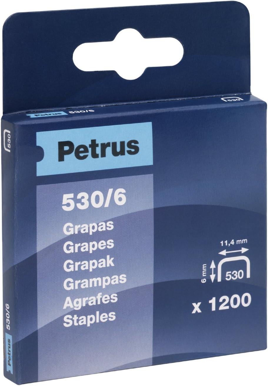Petrus 77513 77513-Caja 1200 UD grapas cobreadas Modelo 530//6 mm