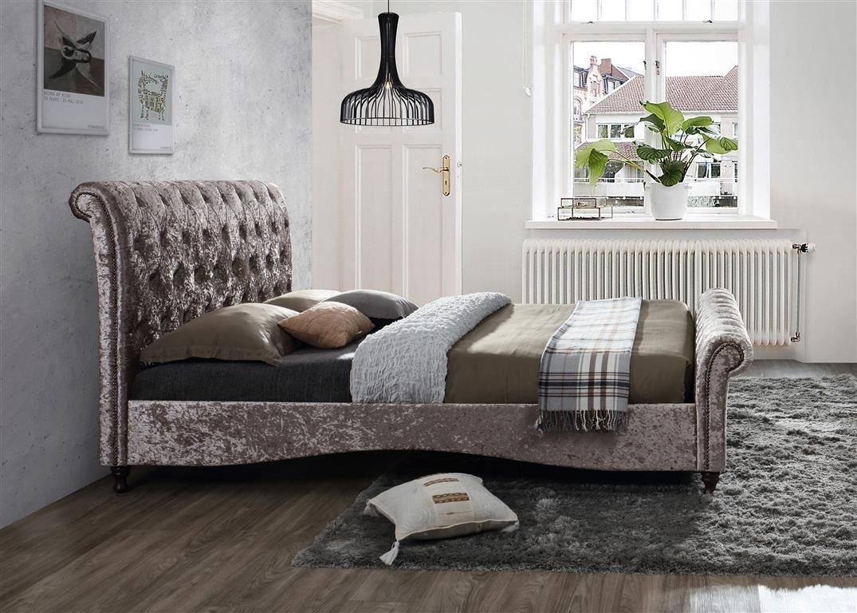 Birlea Brighton Chesterfield Schlitten Bett Rahmen 150 cm 5 Ft ...