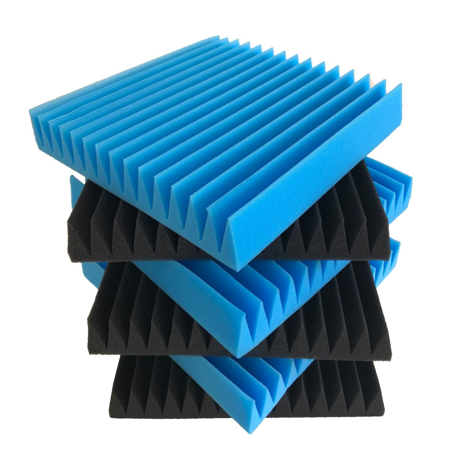 Beefoam Acoustic Panels (6-Pack) Sound-Proofing Foam Baffling | Enhanced Wedges for Noise Cancelling & Sound Absorbing Coverage | Studio, Stage, Theater, Vocal Booth 4334435584