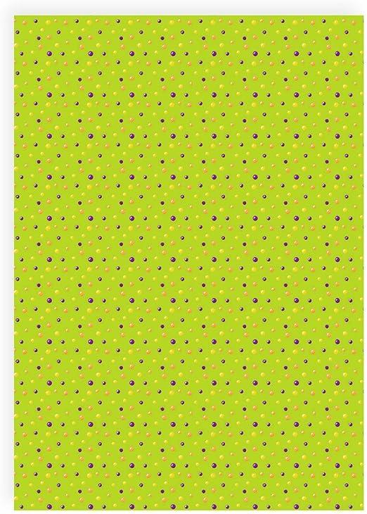 Flex pantalla puntos naranja, morado, verde – Din A4 arco – Pantalla para plotter – Plancha pantalla: Amazon.es: Hogar