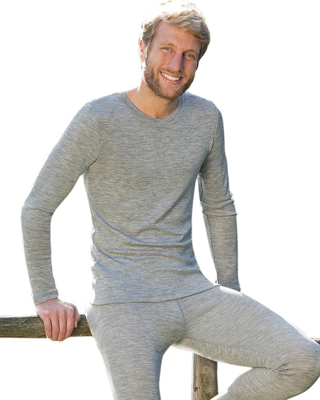 Cheap Engel 70% Organic Merino Wool 30% Silk Men's T-Shirt Long Sleeved. Made in Germany.