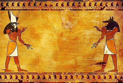 foto de EdCott 7x5 pies Antiguos Dioses egipcios Anubis y Horus Pergamino ...